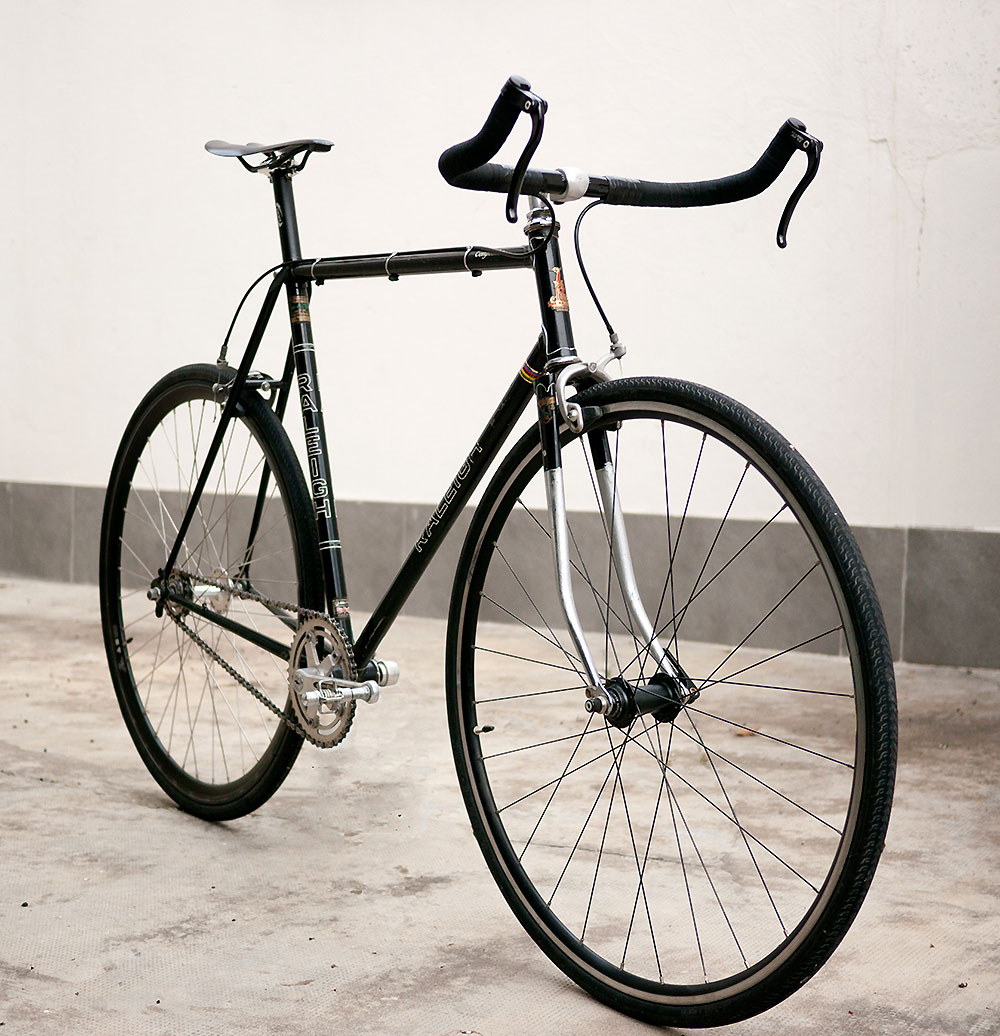 Vélo Raleigh Competition GS, une conversion en fixed gear