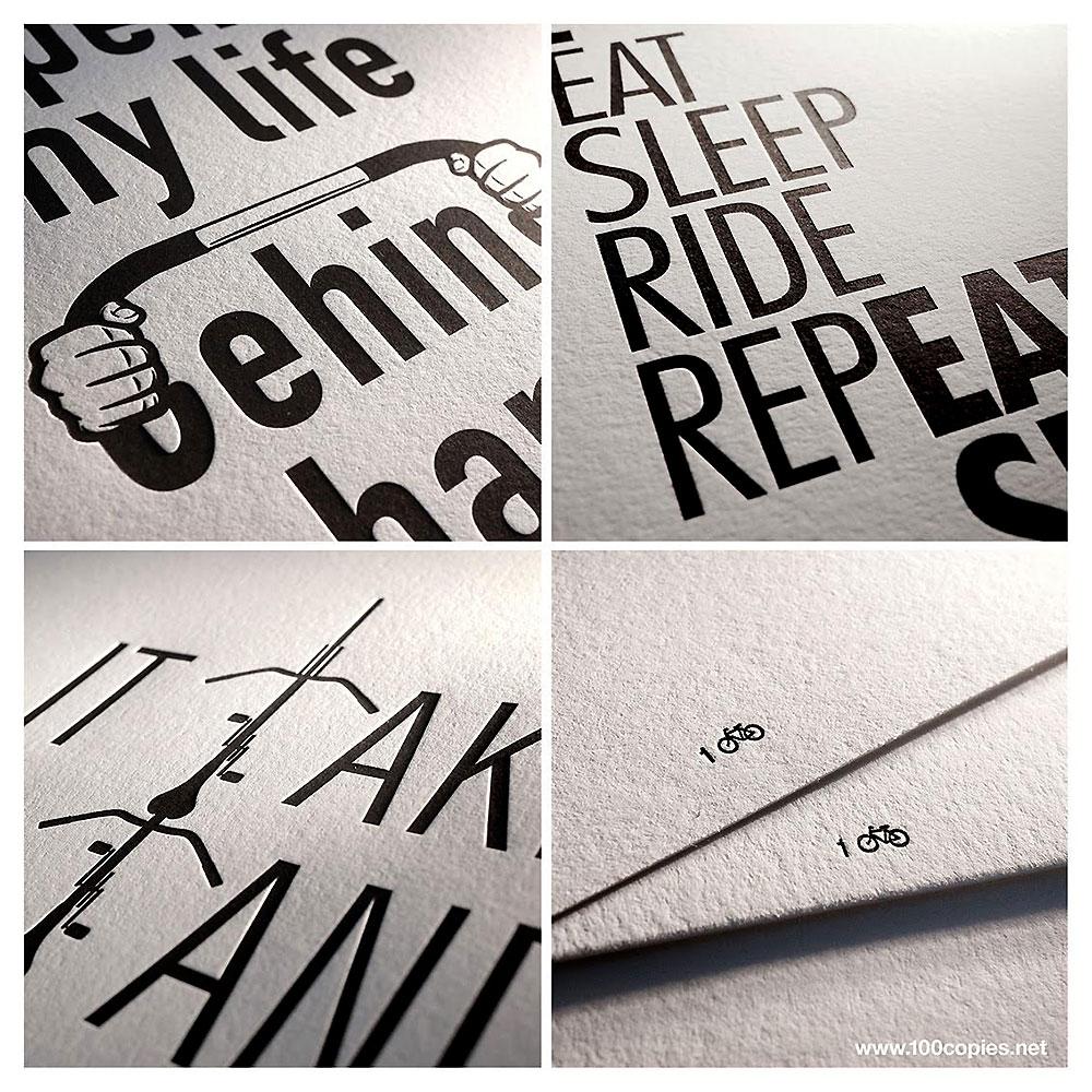 100copies a réalisé une nouvelle série d'affiches !