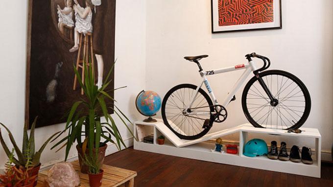 du mobilier design moderne et un rack v los. Black Bedroom Furniture Sets. Home Design Ideas