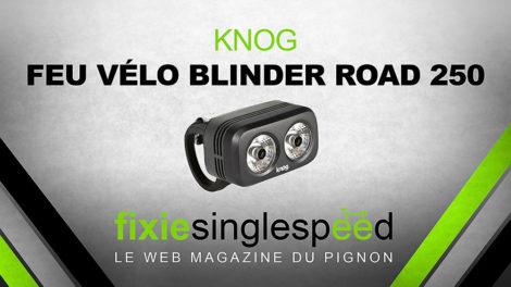 Feu de vélo Blinder Road 250 Knog pour guidon ou casque
