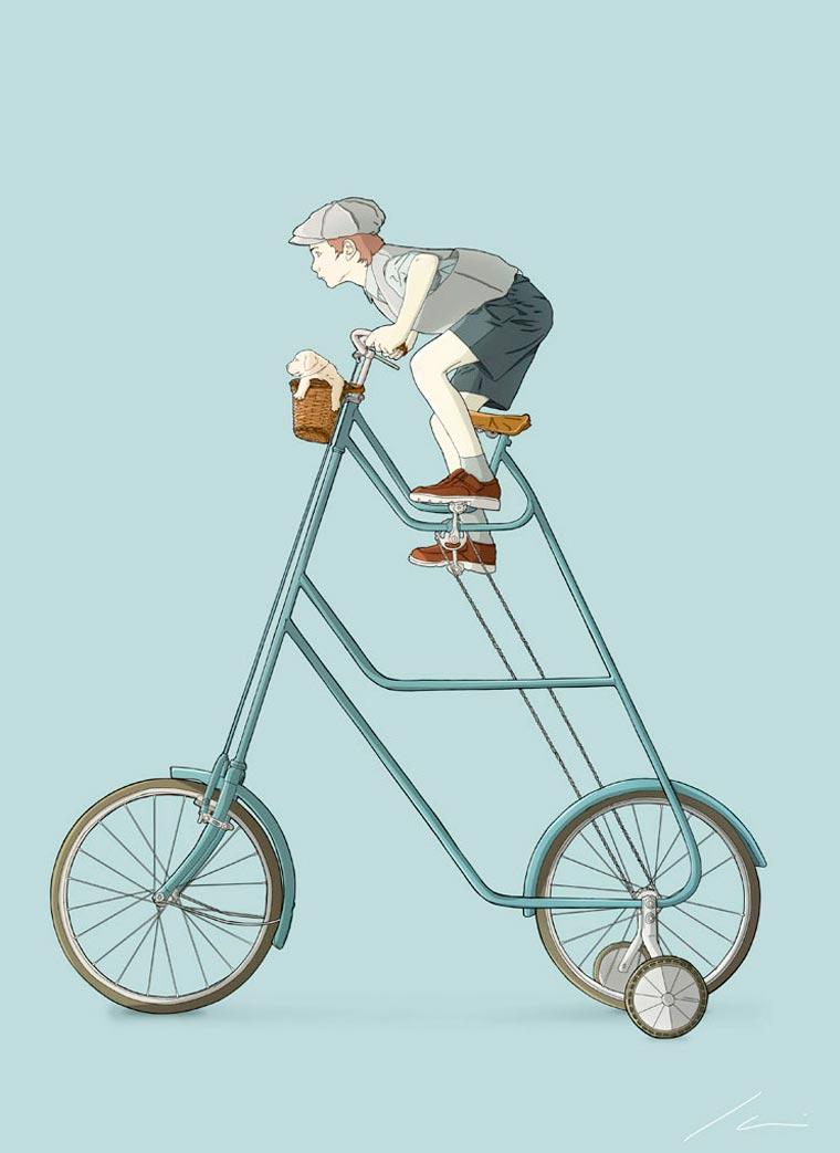 El barbero bicicletero Ibai Eizaguirre