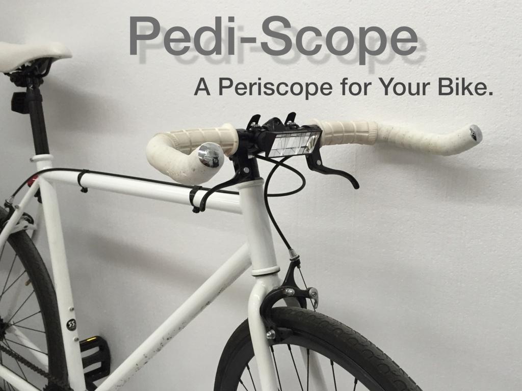 Pedi-Scope, le périscope pour voir devant son vélo !