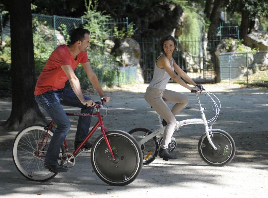 Rool'in, la roue qui donne de l'électricité à votre vélo