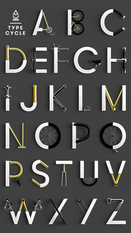 Marcel Piekarski typographie velo Type Cycle