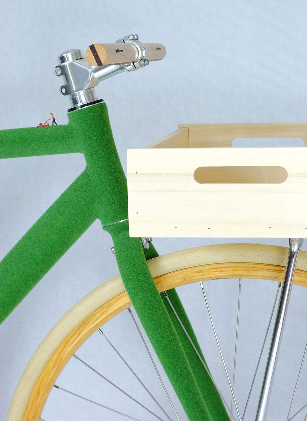 Supergreen, le vélo fixie gazon design de Swabdesign  !