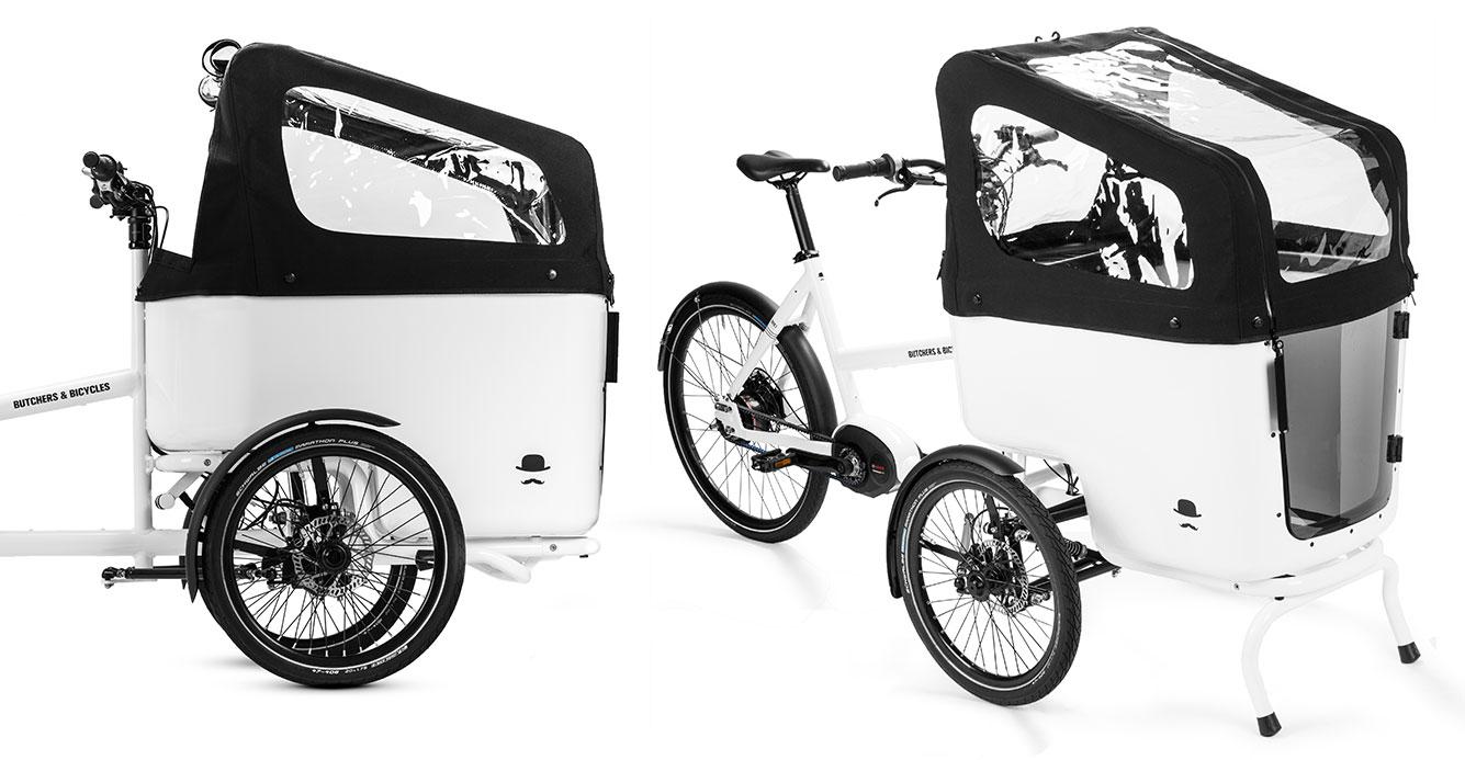 Le vélo triporteur Tilt-Action Cargo Bike