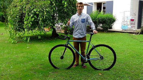 Aller de Lyon à Bayonne, le défi fixie de William Fuz