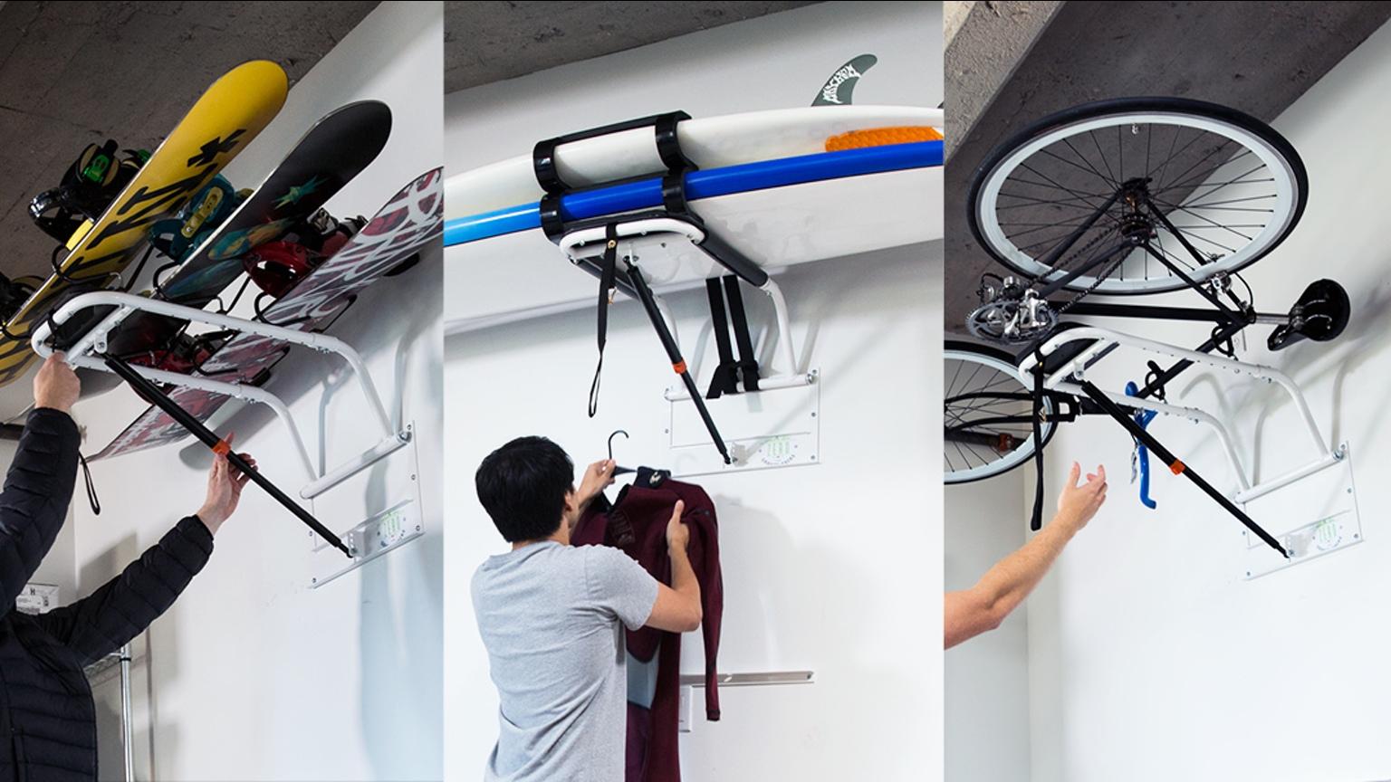 zero gravity racks rangez facilement votre v lo urbain chez vous. Black Bedroom Furniture Sets. Home Design Ideas