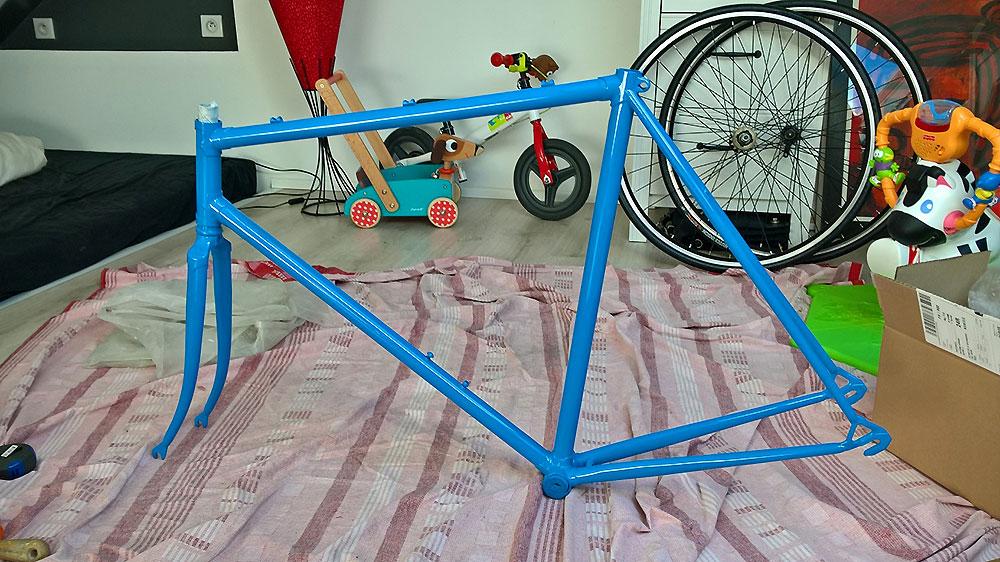 Montage d'un cadre Mercier Colombus en vélo singlespeed