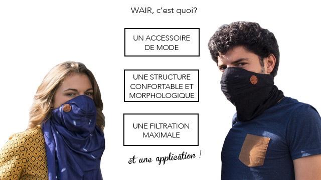 Soutenez Wair, le premier foulard anti-pollution pour vélo urbain