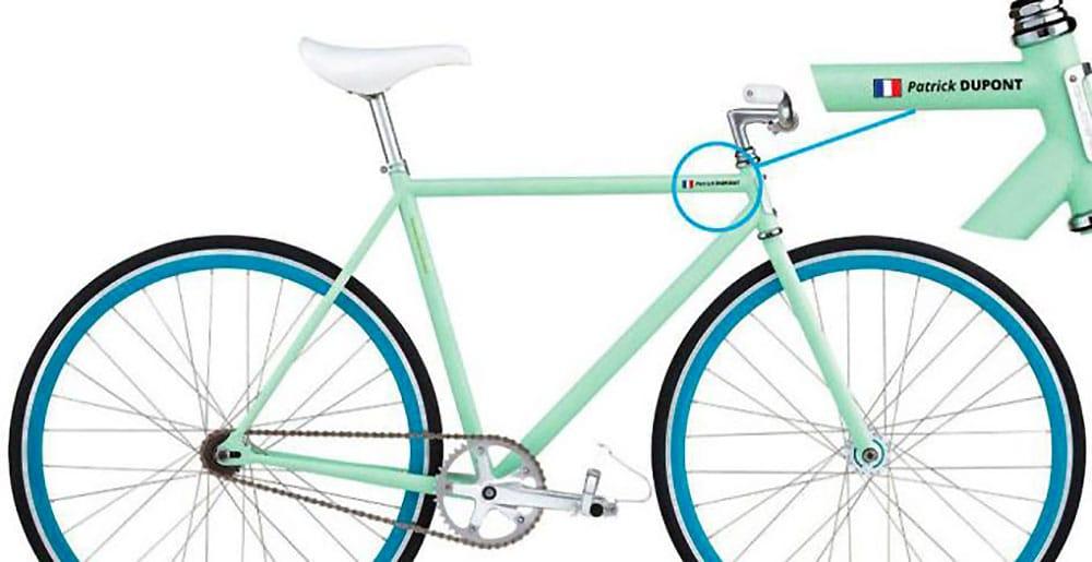 6 autocollants Nom Personnalisé ou cadre de vélo casque casque de vélo cycle stickers
