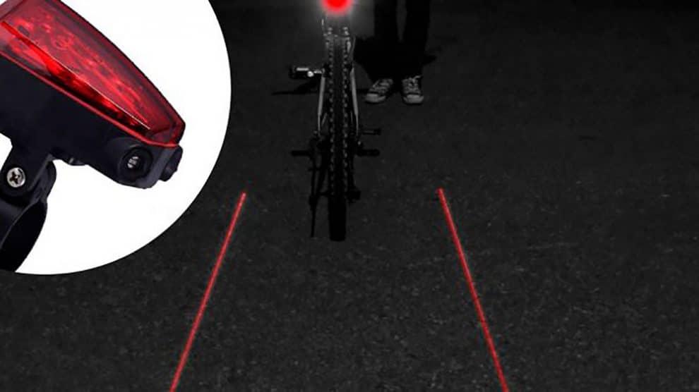Newton Star 5 Leds, l'éclairage laser arrière de vélo
