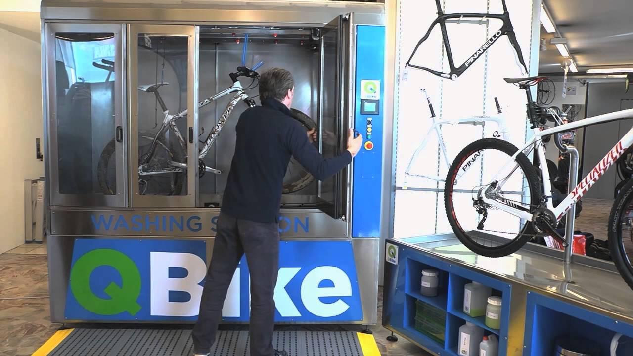 qbike une machine automatique laver les v los. Black Bedroom Furniture Sets. Home Design Ideas