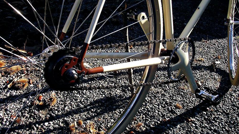 Réalisation d'un vélo singlespeed sur la base d'un vélo de course Mercier