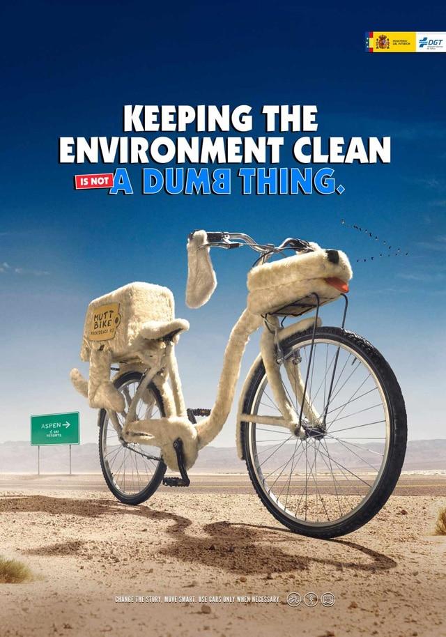 Campagne publicitaire incitant à circuler à vélo urbain