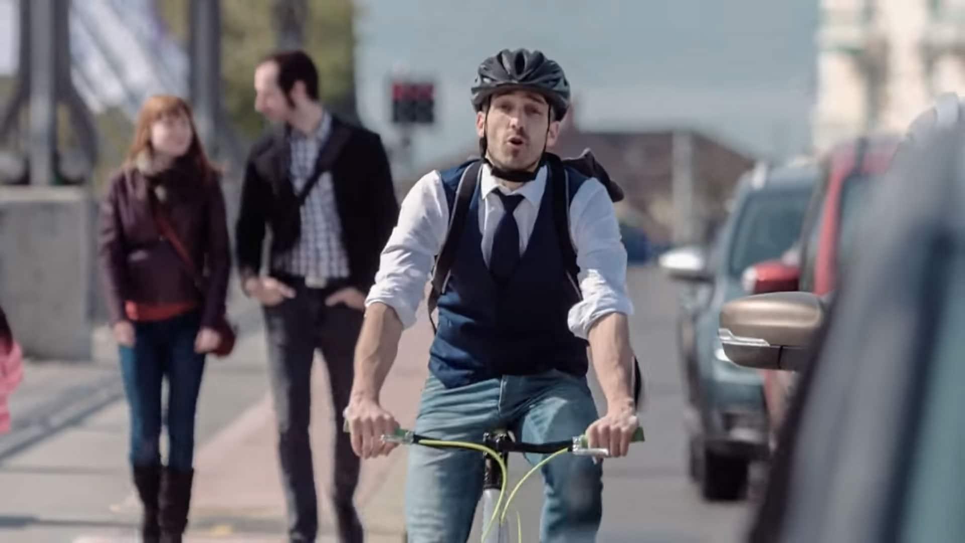 Clip choc pour prévenir les accidents à vélo en Suisse