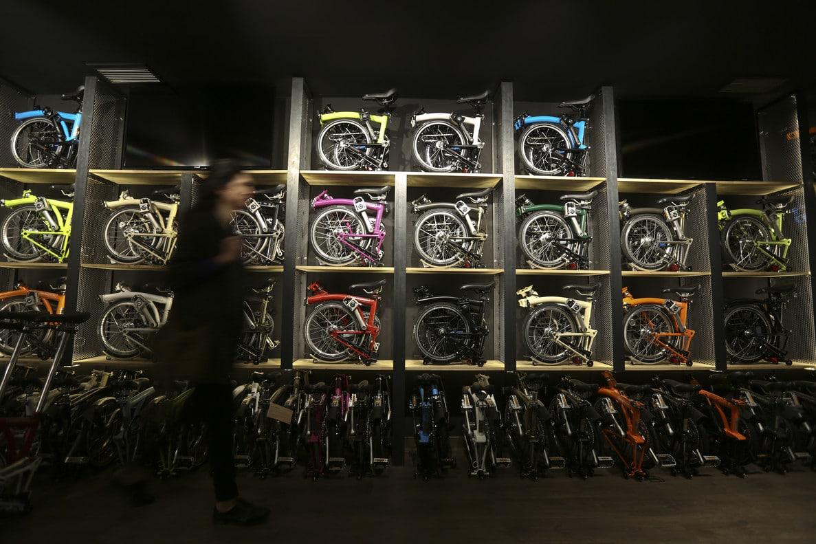 Les vélos Brompton à la boutique club de Barcelone