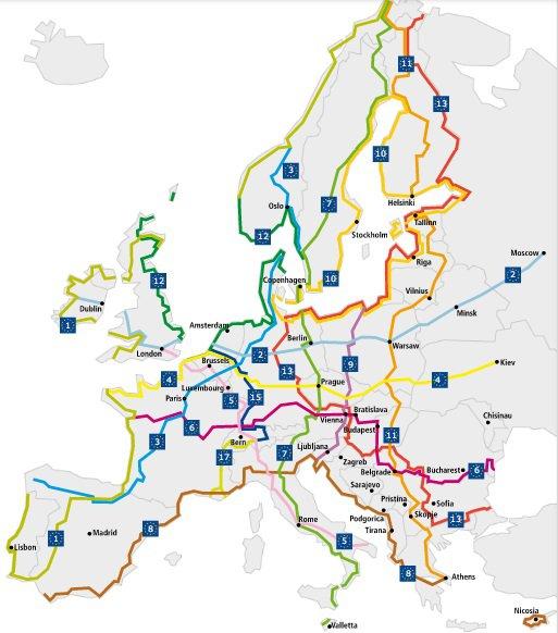 L'Europe crée 15 itinéraires 100% cyclables pour la traverser à vélo !