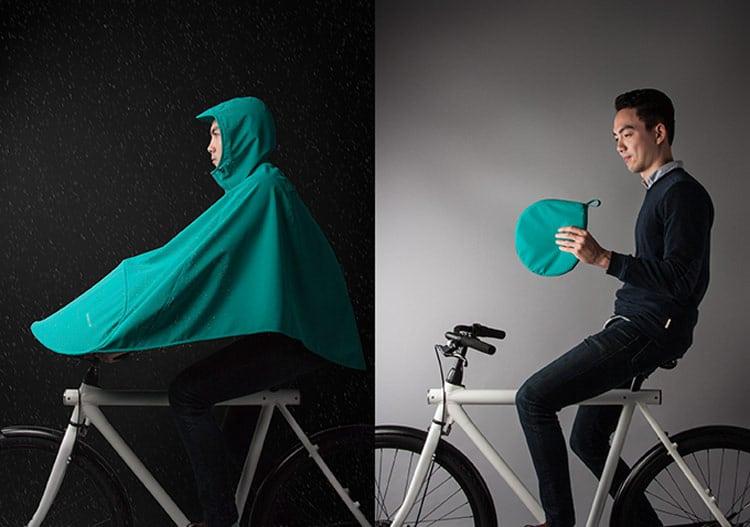 Boncho, un poncho de poche pour le vélo urbain