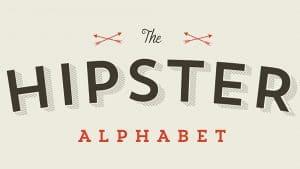 Michael Mahaffey invente l'alphabet hipster humoristique