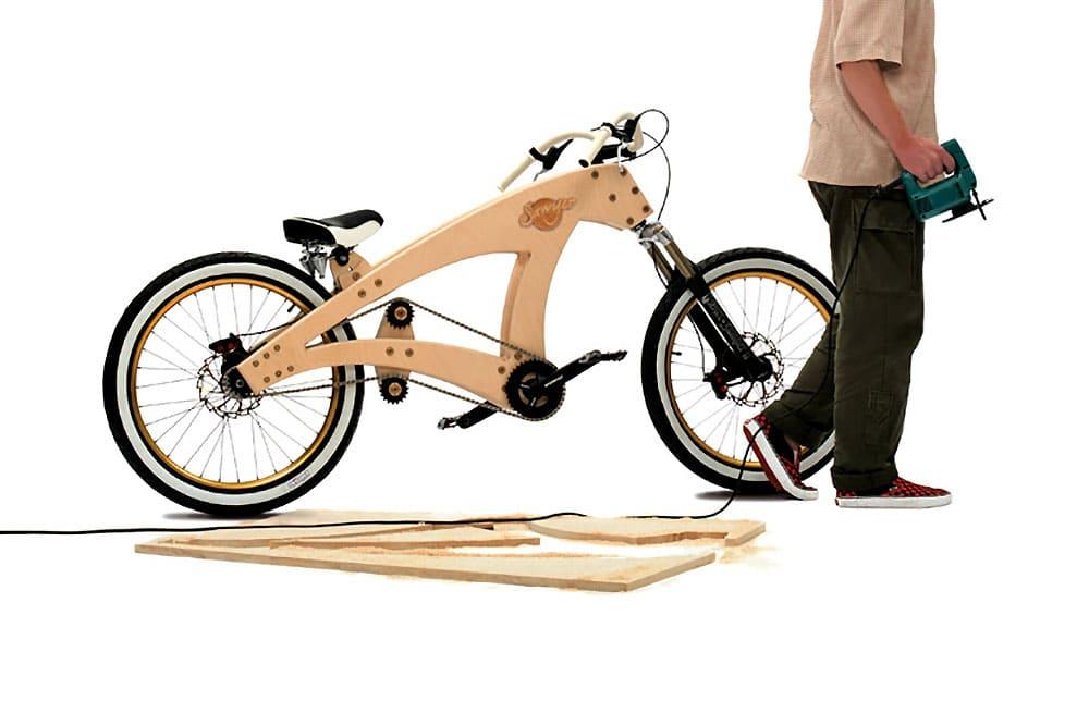 Le Sawyer, un vélo en bois vendu en kit par Jurgen Kuipers