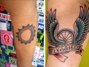 Les fans de fixie et de tatouages en photos, on adore !