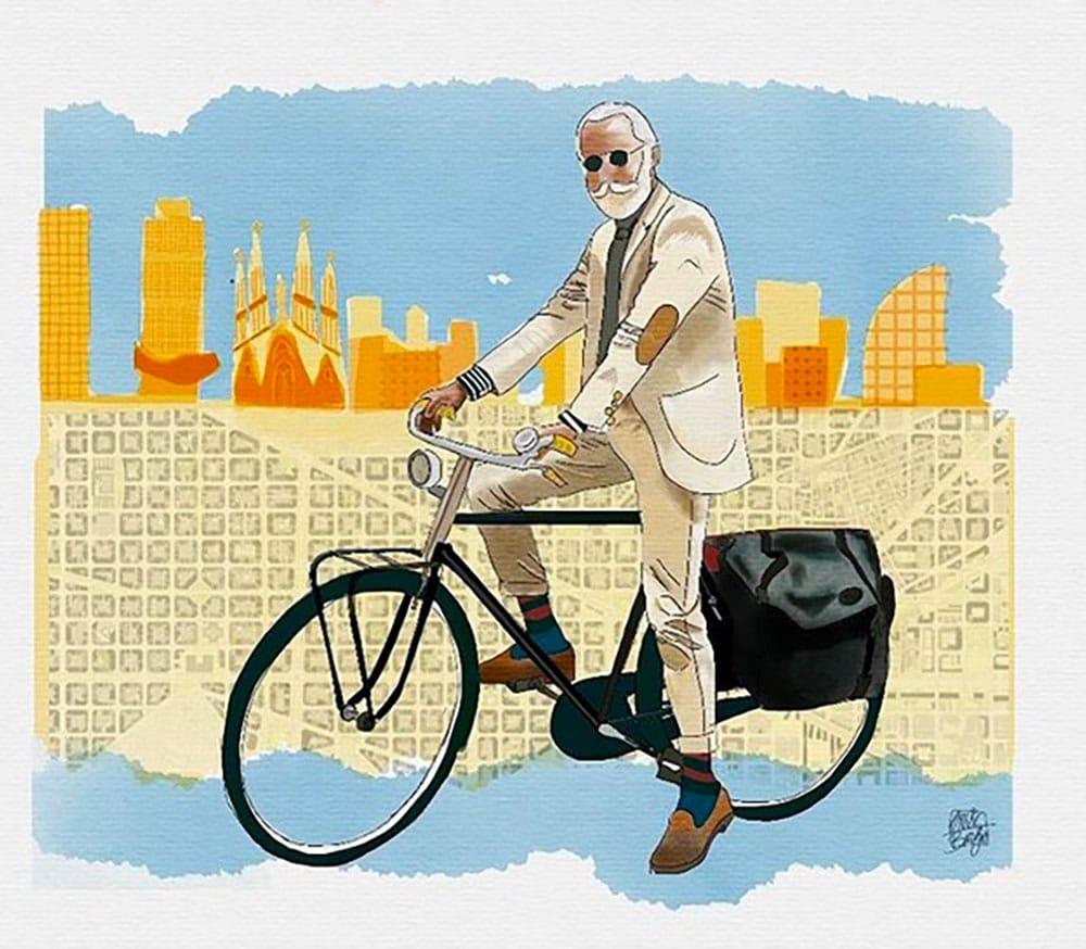 Dessins de vélos et cyclistes urbains par Eric de Bargas et Ro Ledesma