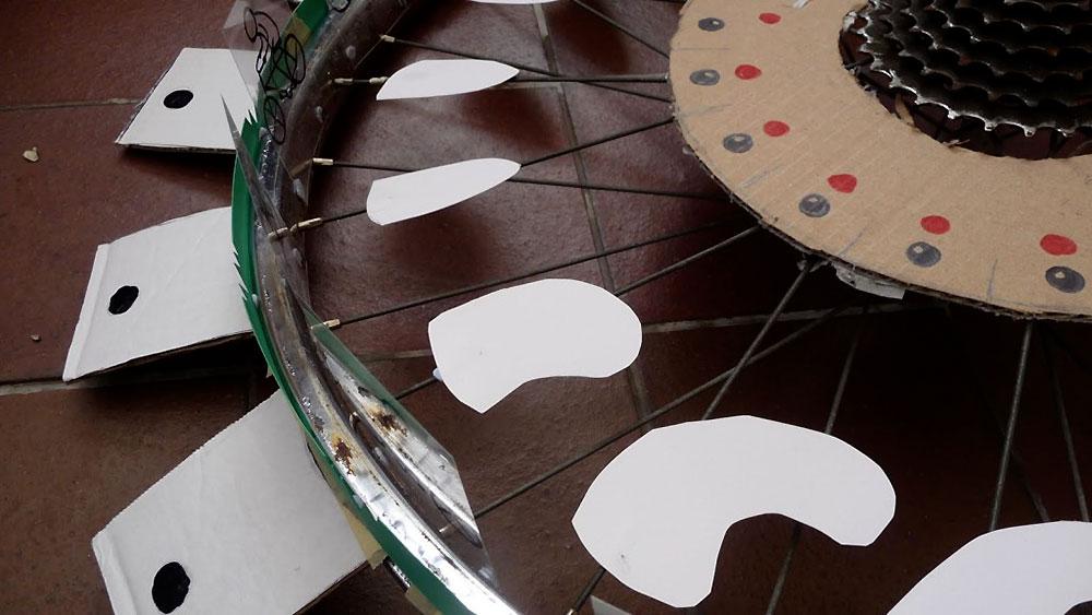Le cyclotrope, une illusion autour d'une roue de vélo