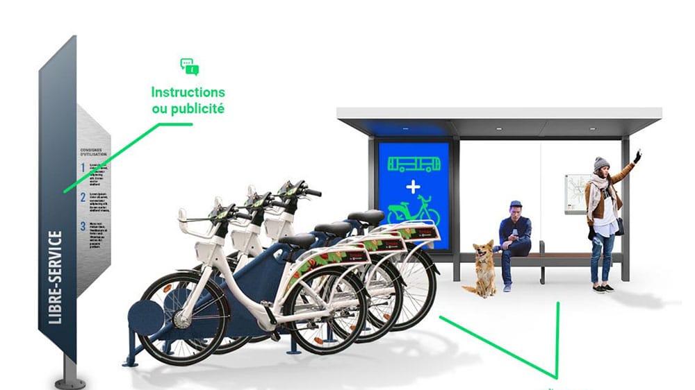 Les premiers vélos urbain électriques libre-service hybrides Écovélo