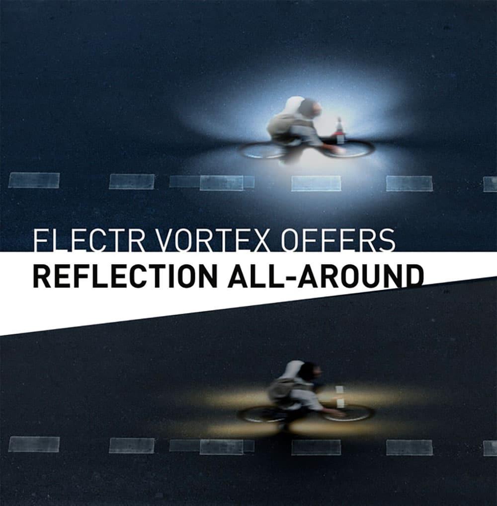 Flectr Vortex, un nouveau réflecteur de vélo puissant sur Kickstarter