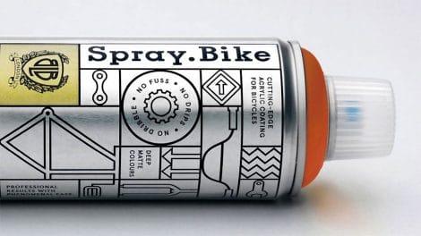 Bombe de peinture Spray Bike dédiée aux vélos