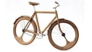 Singlespeed entièrement en bois réalisé par Jan Gunneweg