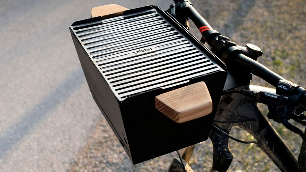 Knister Grill, un drôle et insolite barbecue panier à vélo !