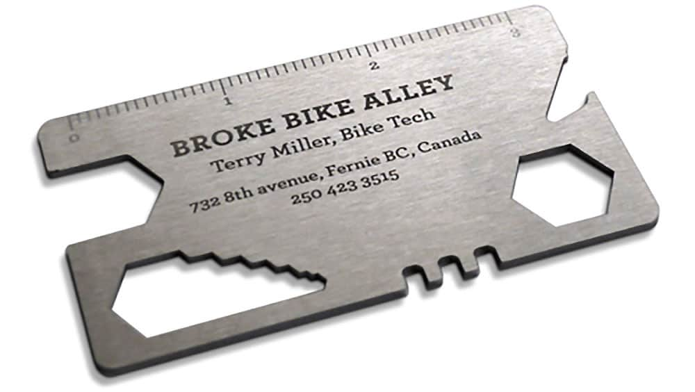 Broke Bike Alley propose une carte de visite vélo originale