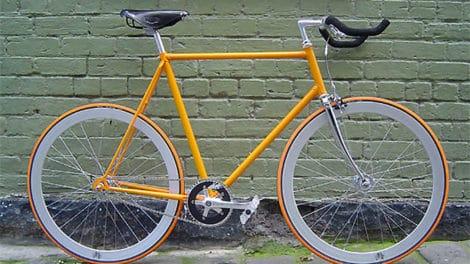 Des fixie orange et chrome de Melbourne