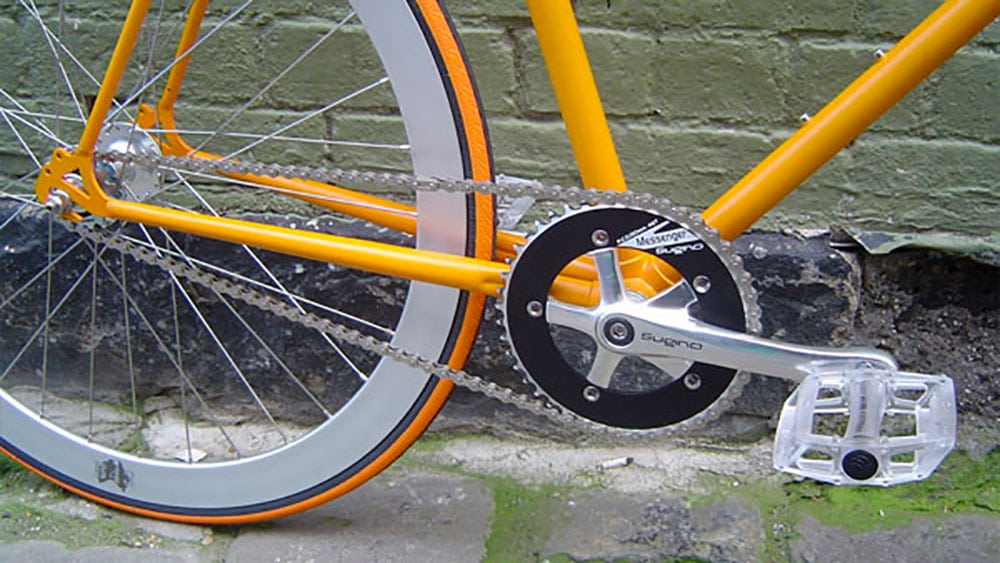 Des fixie orange et chrome de Melbourne