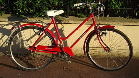 Single speed rouge Champion, vintage 80′