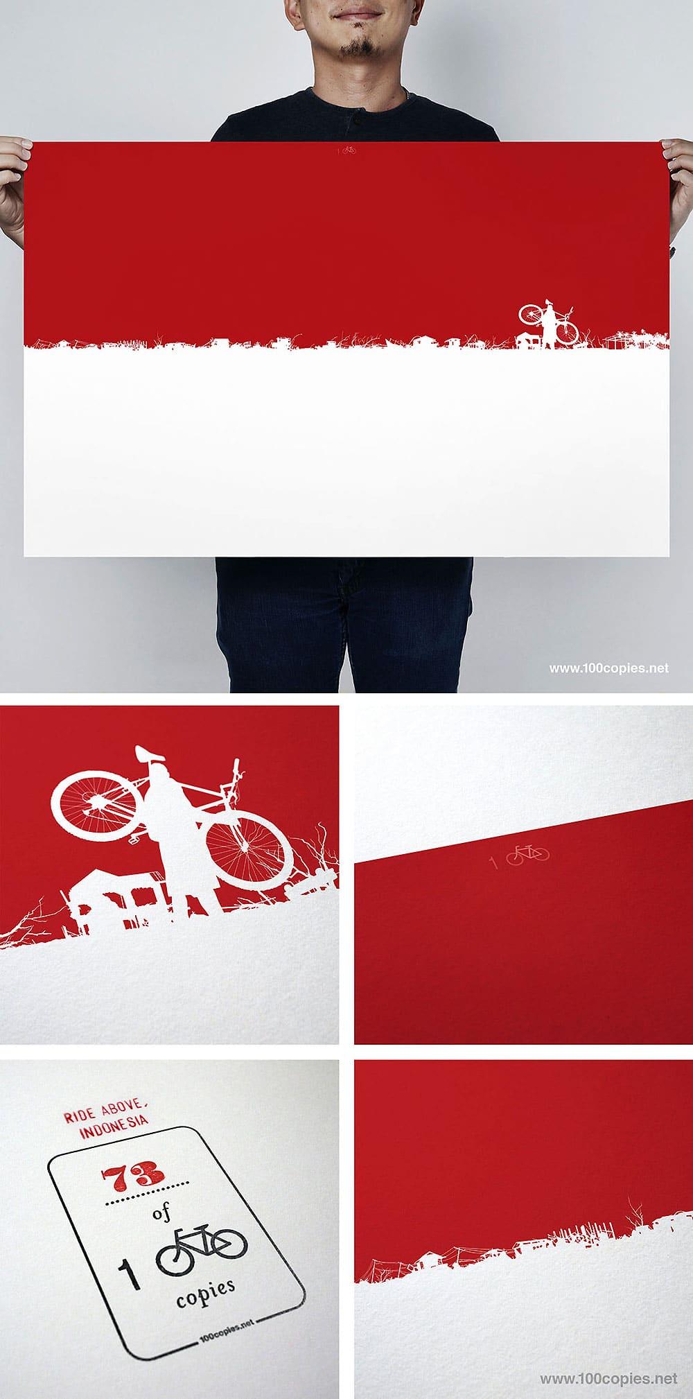 100copies, une oeuvre autour du vélo pour l'Indonésie