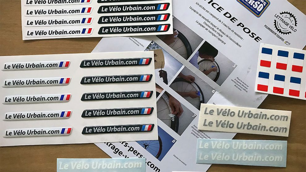 Lettrage Vélo, le spécialiste du sticker vélo personnalisé sur mesure
