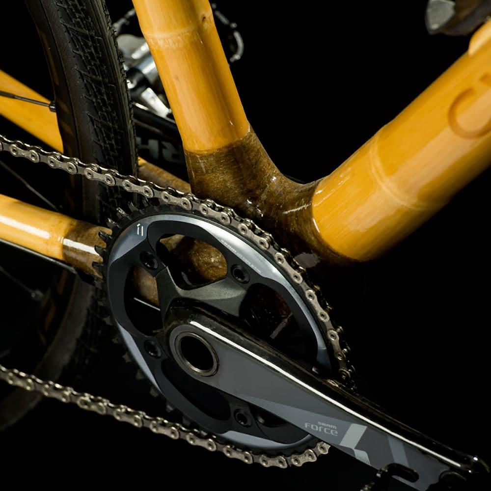 Vélo en bambou Cyclik imaginé et fabriqué en France