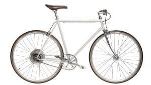 e-Jitensha vélo électrique hybride blanc urbain