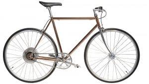e-Jitensha vélo électrique cuivre avec cintre droit