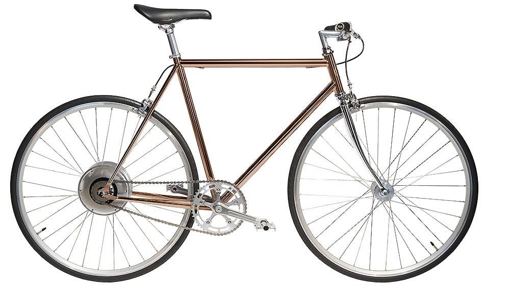 Jitensha vélo électrique cuivre avec cintre droit