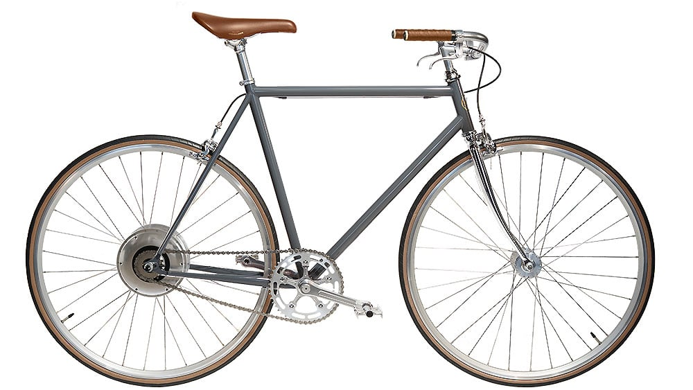 e-Jitensha vélo électrique gris style vintage