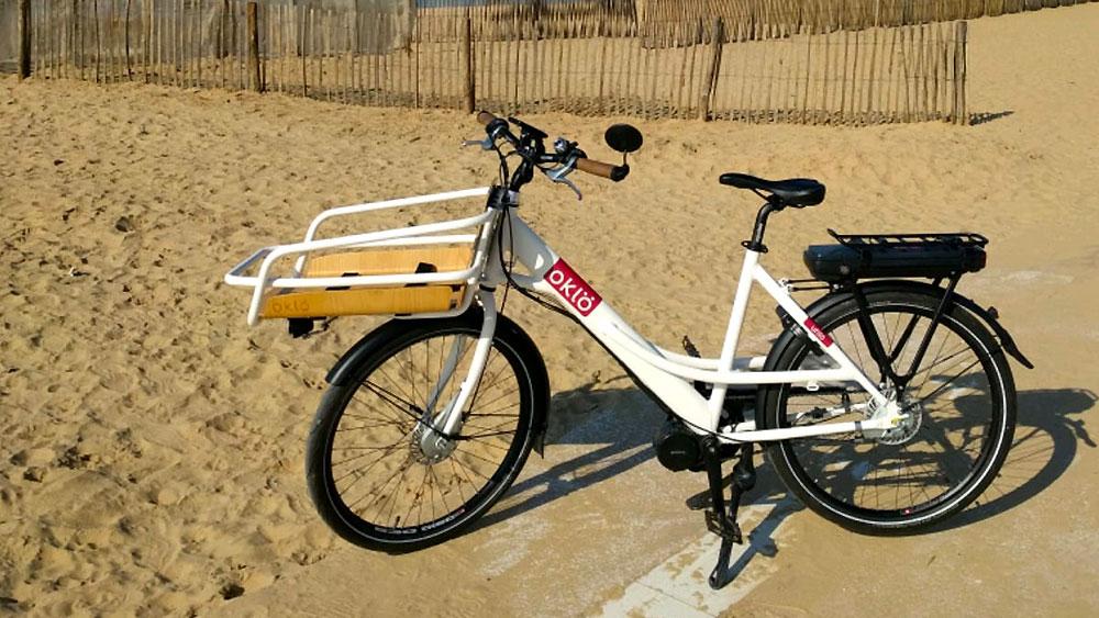 Vélo urbain cargo Oklö, un vélo compact et robuste