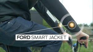 Veste intelligente pour cyclistes de Ford, la sécurité avant tout
