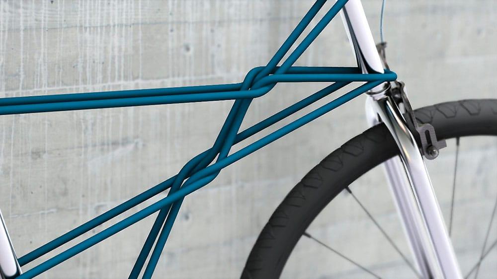 vélo tressé de métal