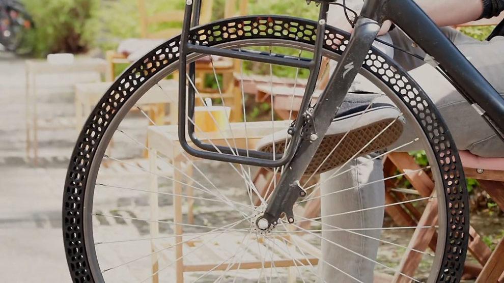 Un pneu imprimable en 3D et increvable de vélo