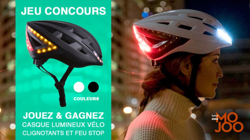 Gagnez un casque lumineux de vélo Bemojoo