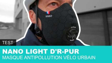 Nano Light d'R-Pur masque antipollution dédié au vélo